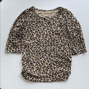 🌵5/$25 Cheetah 3/4 Sleeve Top